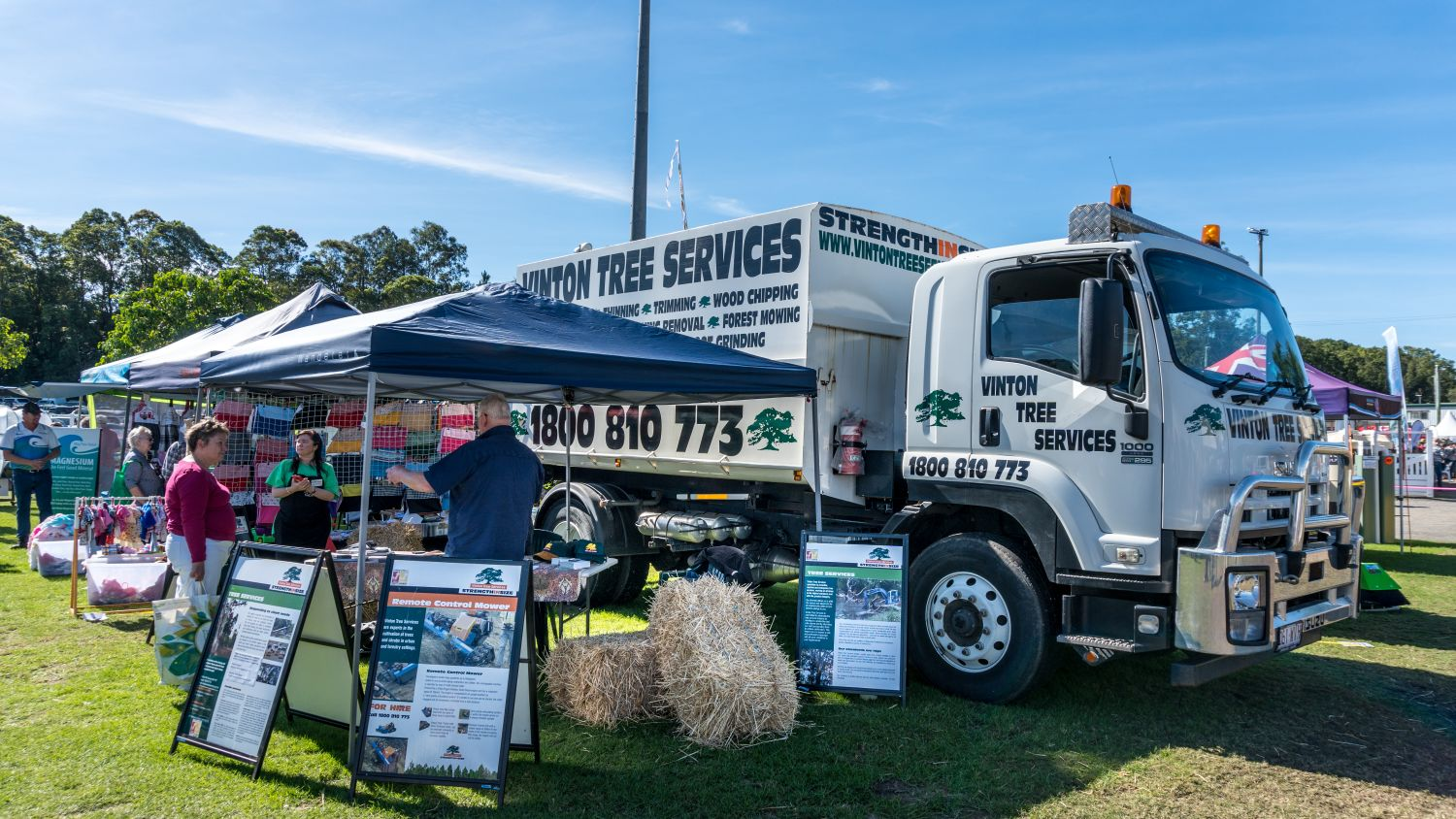 Vinton Tree Services display site at the 2019 Queensland Garden Expo